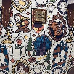 Dooney & Bourke Beauty & Beast Large Shopper Tote Purse Disney Belle Castle NEW