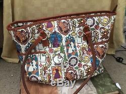 Dooney Bourke Disney Beauty And The Beast Large Helena Shopper Tote Bag