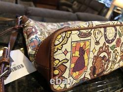 Dooney & Bourke Disney Beauty And The Beast Stained Glass Crossbody
