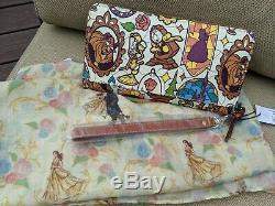 Dooney & Bourke Disney Beauty Belle & Beast Stained Glass Wallet & Large Scarf