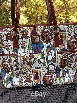 EUC Disney Dooney & Bourke Beauty and the Beast Large Helena Shopper Tote Bag