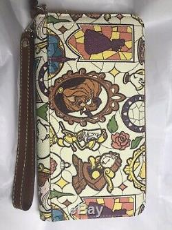 EUC Dooney and Bourke Disney Beauty and The Beast Wallet