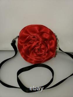 Euc Rare Le Harvey's Disney Beauty&the Beast Rose Circle Bag Purse Seatbelt