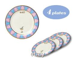 Japan 5030 4 Plate Disney Beauty and the Beast Cake Plate D-BB03 51082