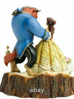 Jim Shore Disney BEAUTY AND THE BEAST CARVED BY HEART Figurine 4031487