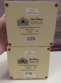 Jim Shore Disney Cinderella and Belle Bookends Beauty and the Beast RETIRED