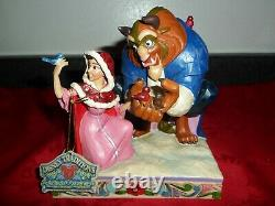 Jim Shore Disney Something There Beauty the Beast Winter White Woodland 4039075