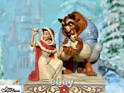 Jim Shore Disney Something There Beauty the Beast Winter White Woodland 4062247