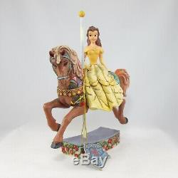 Jim Shore Princess of Knowledge Belle Carousel Disney Beauty and the Beast Horse