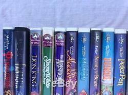 LOT 17 Disney Black Diamond/Masterpiece VHS Lion King Aladdin Beauty Beast Bambi