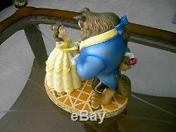 Large 14 Beauty and the Beast Ballroom Scene Sculpture with Base Removeable Rose