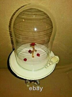Lenox Disney Beauty & the Beast ENCHANTED ROSE Table with Dome Figurine