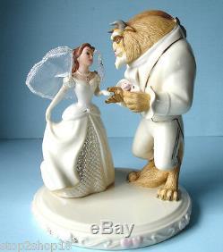 Lenox Disney Belle's Wedding Dreams Cake Topper Figurine Beauty & The Beast New