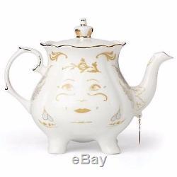 Lenox Disney Mrs Potts & Chip Figurines Beauty and The Beast Teapot Teacup NEW