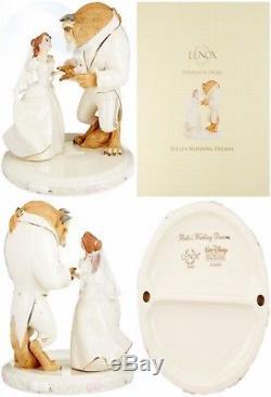 Lenox Disney Princess Belle's Wedding Dreams Cake Topper Beauty and The Beast