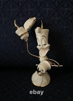 Lenox WELCOME LUMIERE STYLE Candlestick Disney Beauty and the Beast New Box 1stQ