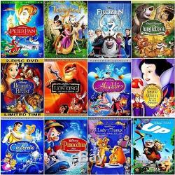 Lot of 12 Disney DVDs Beauty and the Beast, Aladdin, Snow White, Frozen, Peter Pan