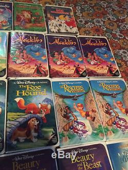Lot of 18 Rare Disney Black Diamond VHS Tapes Beauty and the Beast Aladdin