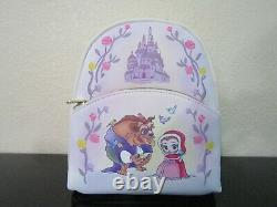 Loungefly Disney Beauty And The Beast Chibi Character Mini Backpack and Wallet