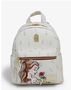 Loungefly Disney Beauty And The Beast Falling Roses Mini Backpack