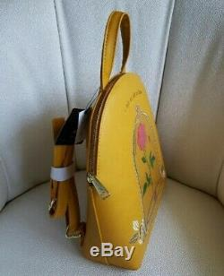 Loungefly Disney Beauty And The Beast Rose Mini Backpack & Cardholder NWT