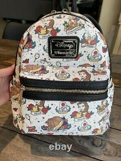 Loungefly Disney Beauty And The Beast Tattoo Mini Backpack EUC Great Placement