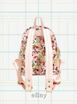 Loungefly Disney Beauty + The Beast Belle Floral Mini Backpack & Matching Wallet