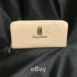 Loungefly Disney Beauty and the Beast, Belle Embossed Purse with Matching Wallet