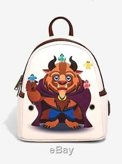Loungefly Disney Beauty and the Beast Chibi Beast Mini Backpack NWT