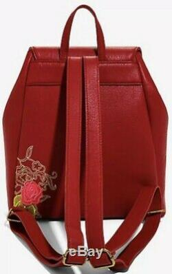 Loungefly Disney Beauty and the Beast Enchanted Rose Mini Backpack Bag NWT