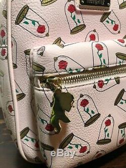 Loungefly Disney Beauty and the Beast Enchanted Rose Mini Backpack NWT