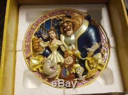 MINT Disney Beauty and the Beast An Enchanted Evening Relief 3D Plate