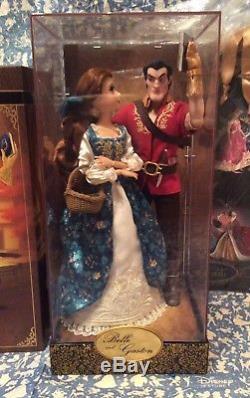 NEW Disney Belle & Gaston Fairytale Designer Doll Set Beauty & Beast Limited LE