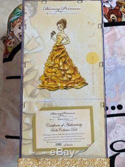 NEW Disney Princess Designer Limited Edition Belle Doll LE Beauty & Beast
