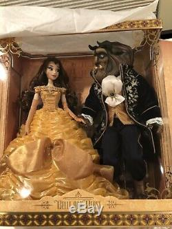 NEW Disney Store Limited Edition Beauty and the Beast Platinum Doll Set LE Belle