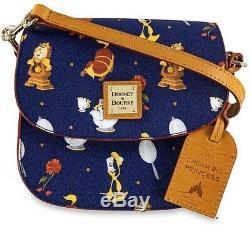 NEW Dooney & Bourke Disney Beauty and the Beast Crossbody Saddle Bag Purse NWT