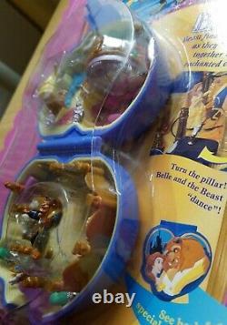 NEW Polly Pocket Disney Beauty & The Beast Playcase Tiny Collection Bluebird'95