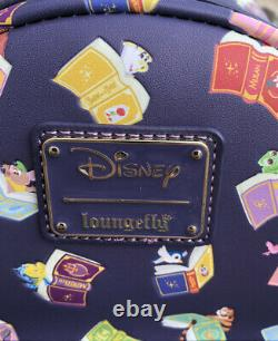 NEW WITH TAGS! Loungefly Disney Beauty and the Beast Belle's Books Mini Backpack