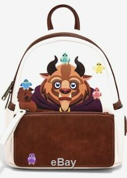 NEW WITH TAGS! Loungefly Disney Beauty and the Beast Chibi Beast Mini Backpack