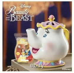 NIB Disney Beauty and the Beast Mrs Potts Scentsy Warmer Full Size and Scent Bar