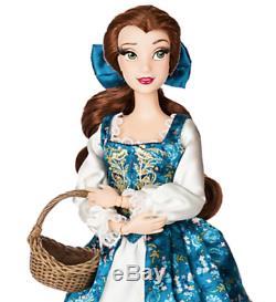 NIB Disney Store Beauty & The Beast Designer Doll Collection, Belle & Gaston LE