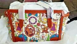 NWT Dooney & Bourke Disney Beauty and the Beast Small Shopper Purse Tote Bag