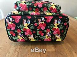 NWT Loungefly Disney Beauty & The Beast Belle Roses Black Red Mini Backpack