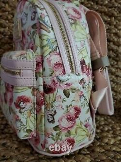 NWT Loungefly Disney Beauty & the Beast Belle Floral Mini Backpack & Wallet Set