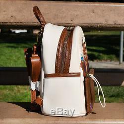 NWT Loungefly Disney Beauty & the Beast with Birds Chibi Mini Backpack