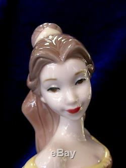 Nao By Lladro #1708 Belle Brand Nib Disney Beauty And The Beast Rose Save$$ F/sh