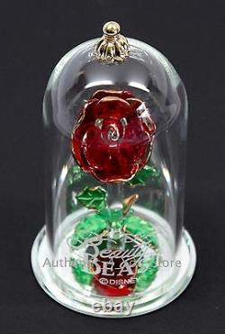 New Disney Arribas Brothers Beauty & the Beast Enchanted Rose 4.5 Glass Dome