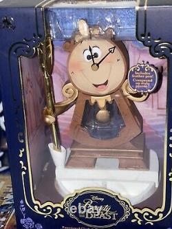 New! Disney Beauty And The Beast Funcional Clock & Lumiere Light Up Set 2
