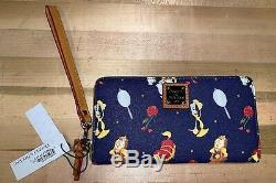 New Disney Beauty and the Beast Wristlet Wallet by Dooney & Bourke