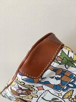 New Dooney & Bourke Disney Beauty And The Beast Stained Glass Crossbody
